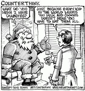 3-Tricks-to-Thwart-Christmas-Weight-Gain-no-diabetes-for-santa